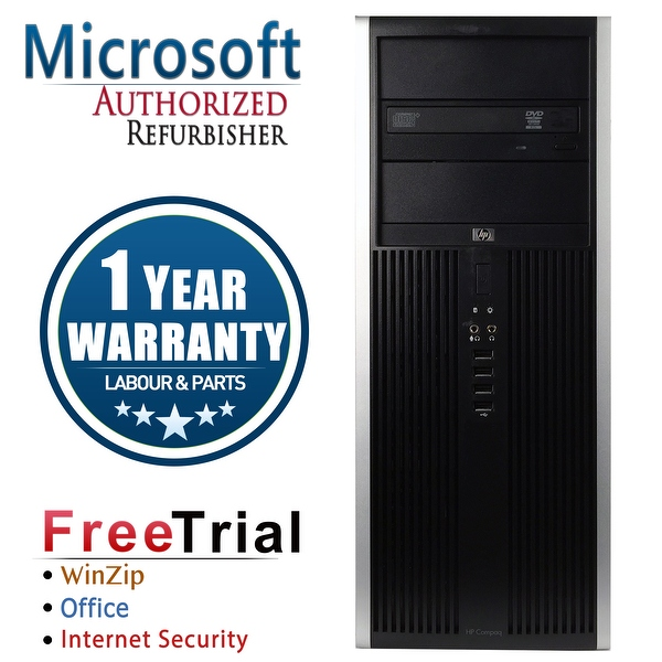Refurbished HP Compaq 8200 Elite Tower Intel Core I5 2400 3.1G 16G DDR3 2TB DVDRW WIN 10 Pro 64 1 Year Warranty - Black