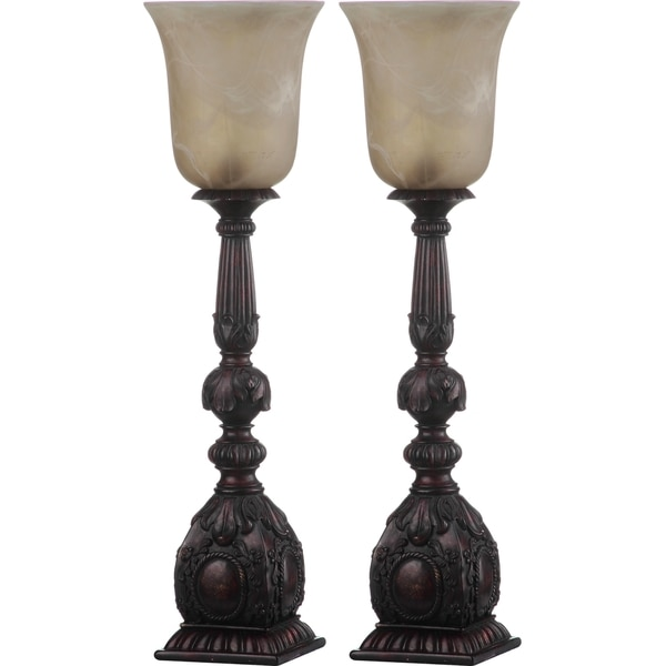 Safavieh Lighting 27.5-inch Dion Arifact Oil-Rubbed Bronze Table Lamp (Set of 2)