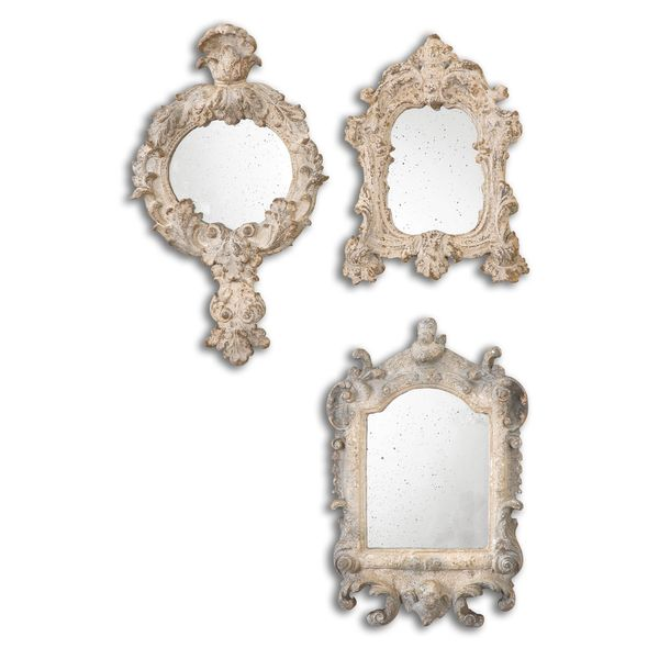 Rustic Artifacts Reflection Mirrors (Set of 3)