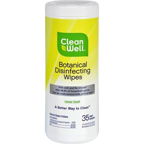 CleanWell Disinfecting Wipes - 35 Count Household Cleaners
