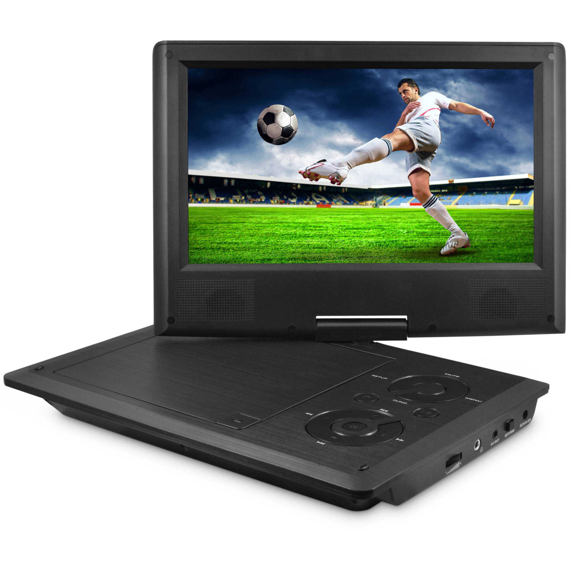 Ematic 9' Portable DVD Player with Matching Headphones and Bag
