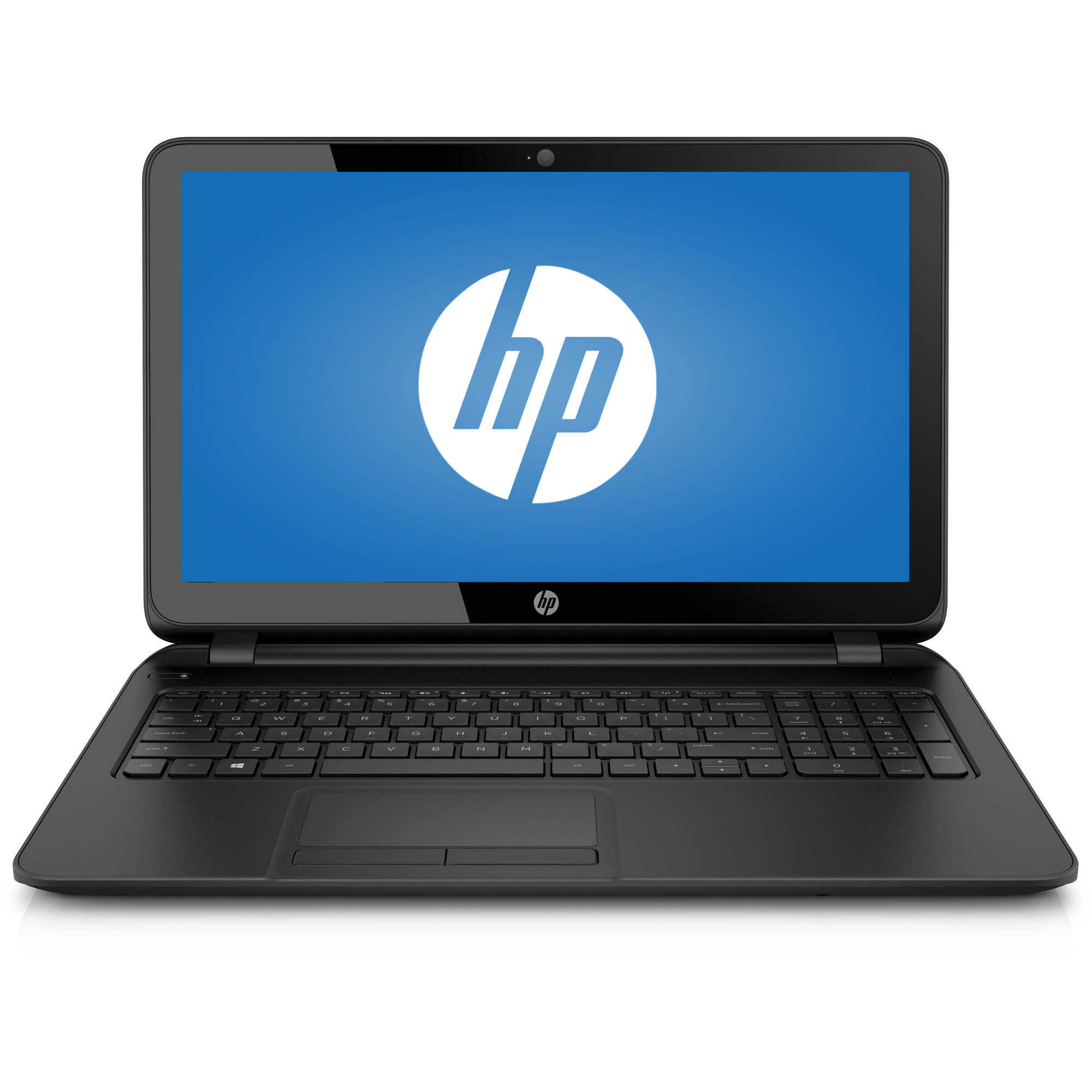 HP Black Licorice 15.6' 15-F387WM Laptop PC with AMD A8-7410 Processor, 4GB Memory, touch screen, 500GB Hard Drive and Windows 10 Home