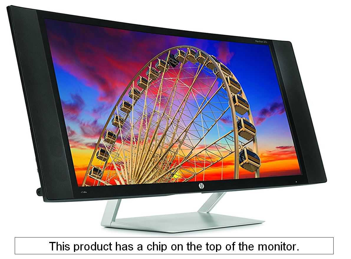 HP 27C 27-Inch 8ms(GTG) Curved 60Hz Widescreen LCD/LED Computer Monitor, HDMI 1920X1080, W/ Anti-Glare, Easy Connectivity Setting, 178/178 Viewing Angle, Build-In Speakers, Black (Pre-Owned)