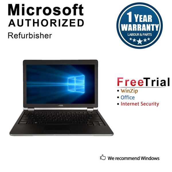 Refurbished Dell Latitude E6220 12.5' Laptop Intel Core i5 2520M 2.5G 4G DDR3 320G Win 10 Pro 1 Year Warranty - Black